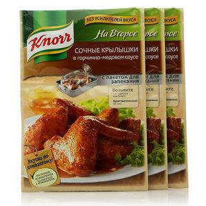 Смесь сухая для сочных Крылышек в горчично-медовом соусе, 3*26г ТМ Knorr (Кнор)