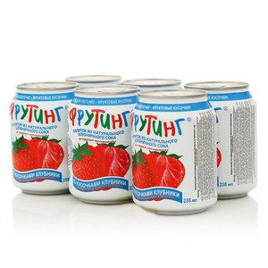 Напиток Клубничный с кусочками клубники, 6*238мл ТМ Fruiting (Фрутинг)