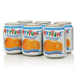 Напиток апельсиновый с кусочками апельсина 6*238мл ТМ Fruiting (Фрутинг)