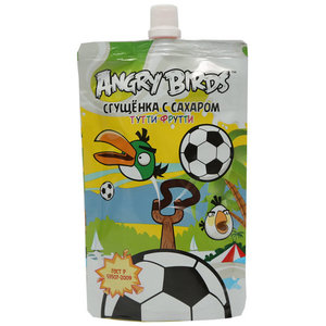Молоко сгущенное Сгущенка с сахаром Тутти-Фрутти ТМ Angry Birds (Энгри Бёрдс)