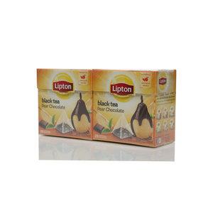Чай черный 2*20*1,6г ТМ Lipton (Липтон) pear chocolate с кусочками груши