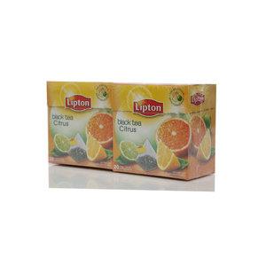 Чай черный 2*20*1,8г ТМ Lipton (Липтон) citrus tea с цедрой цитрусовых