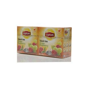 Чай черный 2*20*1,8г ТМ Lipton (Липтон) grape raspberry с виноградом и малиной