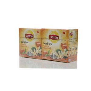 Чай черный 2*20*1,7г ТМ Lipton (Липтон) vanilla caramel с карамелью и ванилью