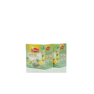Чай зеленый 2*20*1,6г ТМ Lipton (Липтон) с листочками лимонной мяты