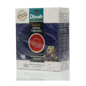 Чай черный байховый ТМ Dilmah (Дилма) Royale Цейлон сюрприз, 100 пакетиков