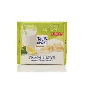 Шоколад белый с йогуртом и лимонной начинкой ТМ Ritter Sport (Риттер Спорт)