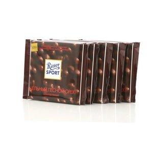 Шоколад темный с цельным орехом 5*100г ТМ Ritter Sport (Риттер Спорт)