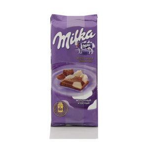Шоколад молочный с белым шоколадом ТМ Milka (Милка)