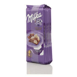 Шоколад молочный с с миндалем 5*90г ТМ Milka (Милка)