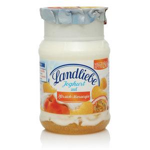 Йогурт безлактозный с персиком и маракуйя TM Landliebe (Лендлиебе)