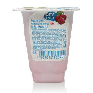 Йогурт со вкусом вишни Фругурт ТМ Вимм-Билль-Данн
