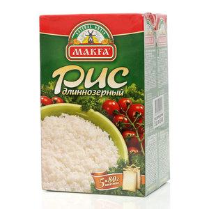 Рис длиннозерный 2*400г ТМ Makfa (Макфа)