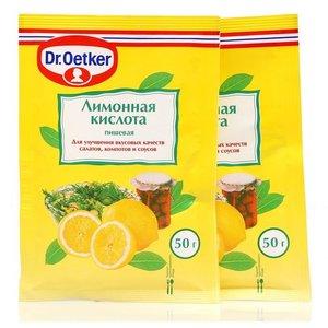 Лимонная кислота 2*50г ТМ Dr.Oetker (Доктор Оеткер)