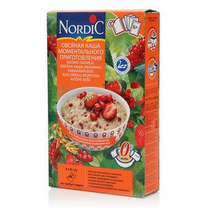 Каша овсяная с красной смородиной и клубникой ТМ Nordic (Нордик)