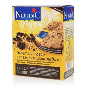Галеты из овса с темным шоколадом ТМ Nordic (Нордик)