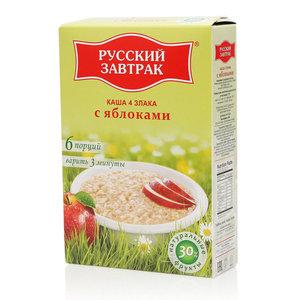 Каша из 4 злаков с яблоками ТМ Русский завтрак в пакетиках