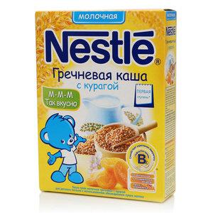 Каша гречневая молочная с курагой ТМ Nestle (Нестле)