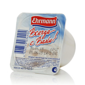 Йогурт 2,7% ТМ Ehrmann (Эрманн)