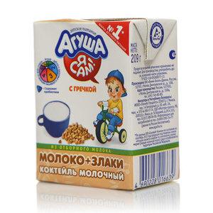 Коктейль молочный со злаками гречка 3,0% ТМ Агуша Я сам!