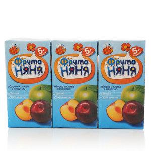 Нектар из яблок и слив с мякотью для питания детей с 5-и месяцев 3*200мл ТМ ФрутоНяня
