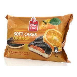 Печенье бисквитное с апельсиновой начинкой и шоколадной глазурью ТМ Fine Life (Файн Лайф)