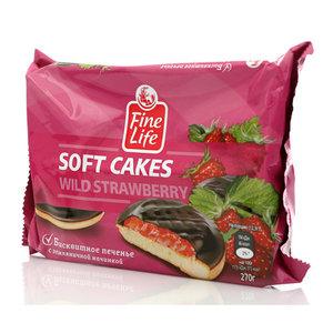 Печенье бисквитное с земляничной начинкой ТМ Fine Life (Файн Лайф)