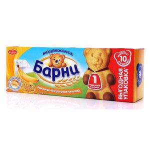Пирожное Барни с бананово-йогуртовой начинкой ТМ Медвежонок барни