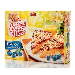Пирог с начинкой из голубики Сдобная особа TM Черемушки
