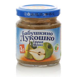 Пюре из груш и яблок ТМ Бабушкино лукошко