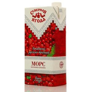 Морс из земляники и брусники ТМ Северная ягода