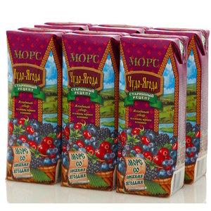 Морс ягодный сбор 6*250мл ТМ Чудо-ягода