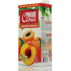 Сок абрикос-персик ТМ Моя семья