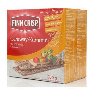 Сухарики Caraway-Kummin ржаные с тмином 2*200г ТМ Finn Crisp (Финн Крисп)