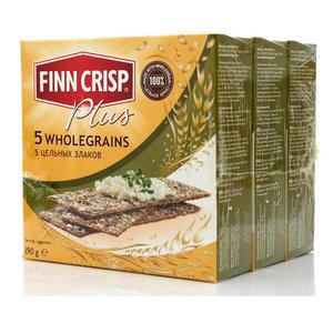 Сухарики 5 Wholegrains 5 цельных злаков 3*190г ТМ Finn Crisp (Финн Крисп)