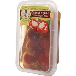 Красный перчик с сыром Фета в масле ТМ Греко