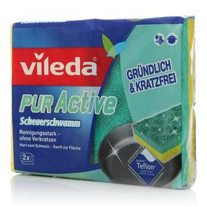 Губки для плит PurActive ТМ Vileda (Виледа), 2 шт.