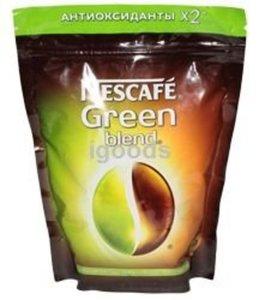 Кофе растворимый Green blend ТМ Nescafe (Нескафе) сублимированный антиоксиданты *2