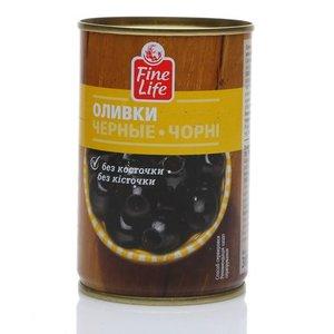 Оливки черные без косточки ТM Fine Life (Файн Лайф)