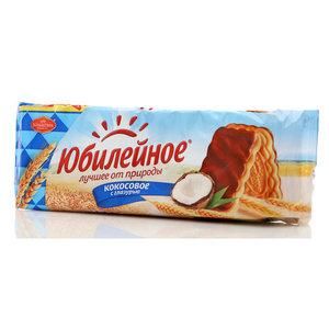 Печенье Кокосовое с глазурью ТМ Юбилейное