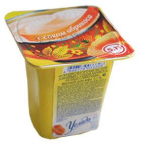 Йогурт с соком абрикоса Услада молочная 1,2% ТМ Ehrmann (Эрманн)