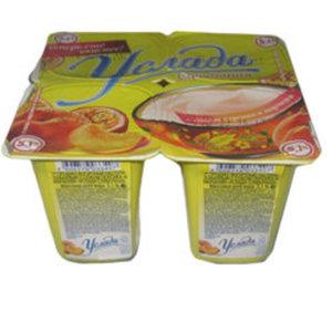 Йогурт с соком персика и маракуйи Услада сливочная 5,1% ТМ Ehrmann (Эрманн)