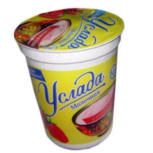 Йогурт с соком клубники Услада молочная 1,2% ТМ Ehrmann (Эрманн)