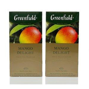 Чай белый 2*25*1,8г ТМ Greenfield (Гринфилд) Mango delight с ароматом манго