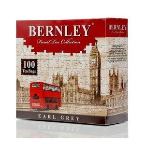 Черный цейлонский чай Earl Grey ТМ Bernley (Бернли), 100 пакетиков