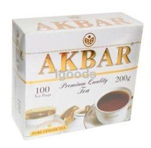 Чай черный байховый цейлонский ТМ Akbar (Акбар) Золотая серия мелкий, 100 пакетиков