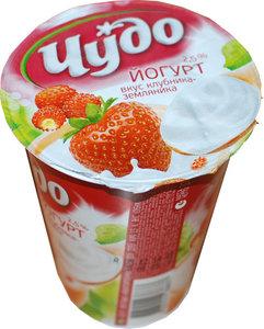 Йогурт клубника-земляника 2,5% ТМ Чудо
