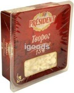 Творог рассыпчатый 15% ТМ President (Президент)