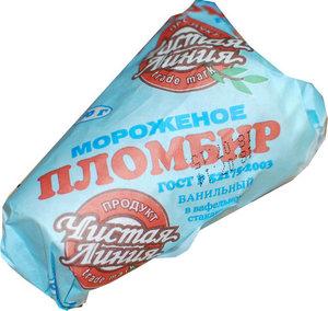 Мороженое пломбир ванильный ТМ Чистая линия в вафельном стаканчике