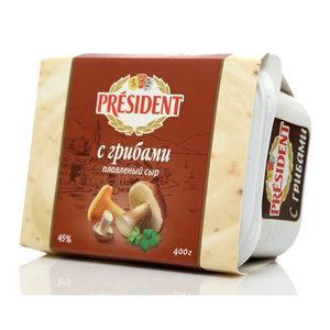 Сыр плавленый с грибами ТМ President (Президент) 45%